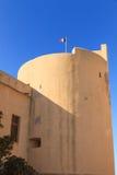 Французские tricolour мухы против голубого неба над башней в t Стоковая Фотография RF