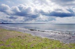 Французский берег моря пляжа Стоковые Фото