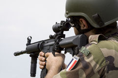 французский воин Стоковые Фото