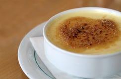 Французский десерт - creme brulee Стоковая Фотография