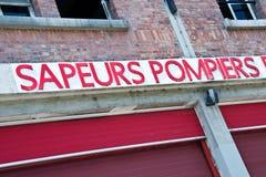 Французский знак пожарного депо Стоковое Изображение RF