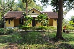 Французский колониальный дом на острове Дон Khon Стоковое Фото