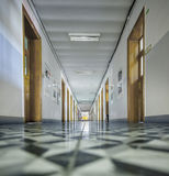 Французский коридор средней школы стоковые изображения