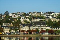 Французский красивый вид приморской деревни Стоковое фото RF