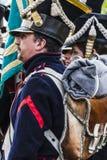 Французский наполеоновский солдат в взводе стоковое фото rf