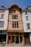 Французский дом полу-тимберса Стоковое Изображение