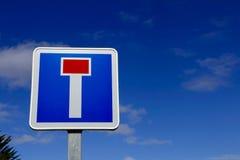Французский дорожный знак улицы мертвого конца Стоковое Изображение
