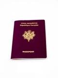 французский пасспорт Стоковое Изображение RF