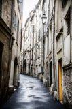 Французский переулок в Монпелье Стоковая Фотография