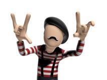 Французский персонаж из мультфильма 3D Стоковые Изображения