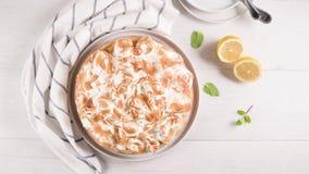 Французский пирог с Merengue сток-видео