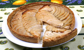 Французский пирог яблока Стоковое фото RF