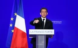 французский президент nicolas sarkozy стоковая фотография