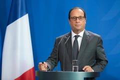 Французский президент Francois Hollande Стоковые Фотографии RF