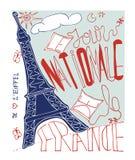 Французский плакат Стоковые Изображения