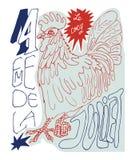 Французский плакат Стоковая Фотография