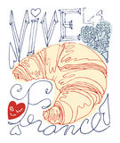 Французский плакат Стоковое Изображение RF