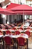 Французский ресторан Провансаль к югу от Франции, кафа тротуара стоковое фото rf