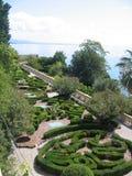 Французский сад в террасе на озере Garda в Италии Стоковые Изображения RF