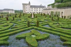 Французский сад, Villandry, Франция стоковое фото