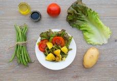 Французский салат стручковой фасоли Стоковые Изображения