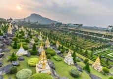 Французский сад сада Nong Nooch тропического ботанического Стоковое Фото