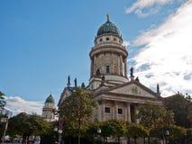 Французский собор и свой немецкий шкентель, Берлин, Германия Стоковое Фото