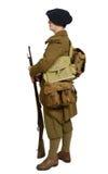 Французский солдат пехоты горы во время Второй Мировой Войны дальше Стоковая Фотография RF