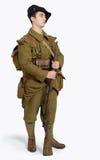 Французский солдат пехоты горы во время Второй Мировой Войны дальше Стоковые Изображения