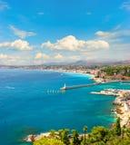 французский среднеземноморской взгляд riviera курорта Стоковые Фотографии RF