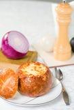 французский суп лука Стоковое Изображение RF