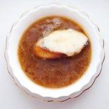 французский суп лука Стоковое Изображение