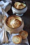 Французский суп луков с багетом Стоковое Изображение RF