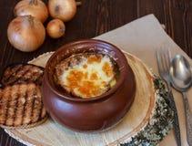 французский суп лука Стоковая Фотография RF
