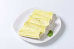Французский сыр Carre de l'Est Стоковое Изображение RF