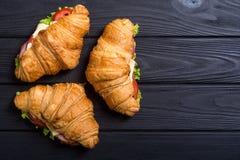 Французский сэндвич круассана стоковое изображение