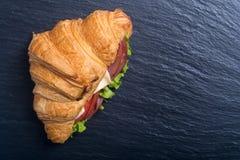 Французский сэндвич круассана стоковые фотографии rf