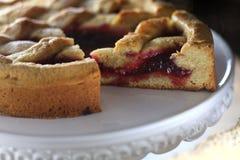 Французский торт пирога на плите Стоковое фото RF