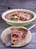 Французский торт Clafoutis вишни Стоковые Изображения