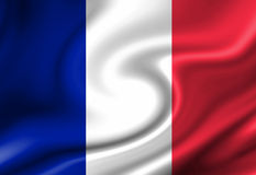 Французский флаг Стоковое Изображение