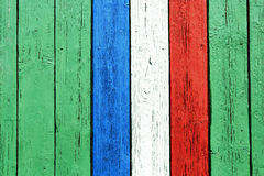Французский флаг покрашенный на древесине Стоковая Фотография