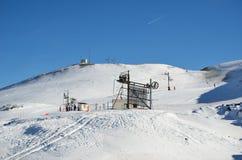 Французский лыжный курорт Pierre St Martin Стоковое Фото