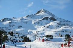 Французский лыжный курорт Pierre St Martin Стоковые Фотографии RF