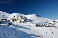 Французский лыжный курорт Pierre St Martin Стоковые Изображения