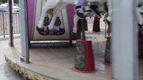 Французский Carousel вращает сток-видео