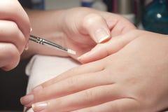французский manicure Стоковое Фото