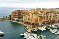 Французский riviera Монако monte carlo гавань стоковые фотографии rf
