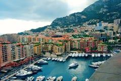 Французский riviera Монако monte carlo гавань стоковая фотография rf