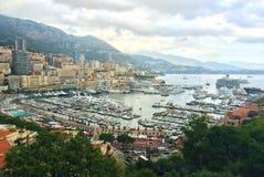 Французский riviera Монако monte carlo гавань стоковое изображение