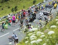 2 французских велосипедиста на Col de Peyresourde - Тур-де-Франс 2014 Стоковые Фото